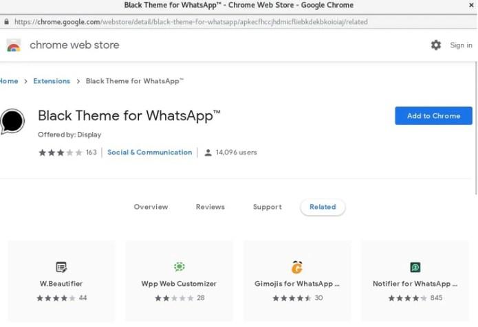 La extensión de Google Chrome a la que se redirigido el usuario.