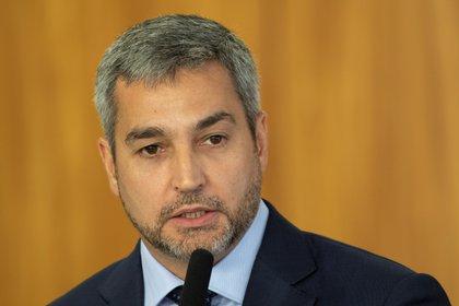 El presidente de Paraguay, Mario Abdo Benítez. EFE/Joédson Alves/Archivo