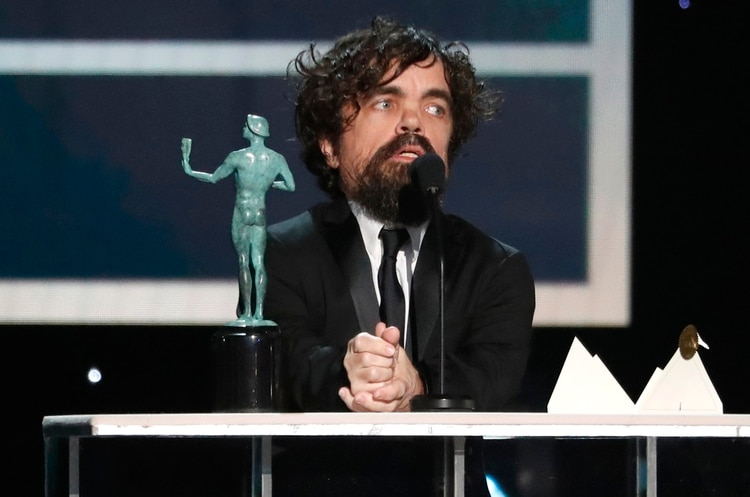 26th Screen Actors Guild Awards - Show - Los Angeles, California, U.S., January 19, 2020 - Peter Dinklage accepts the award for Outstanding Performance by a Male Actor in a Drama Series for