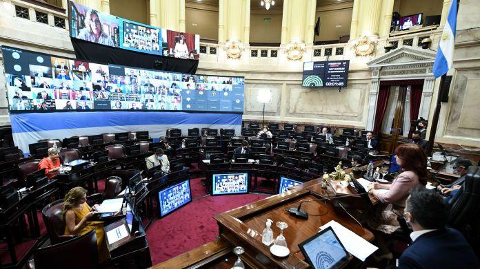 Sesión pública especial remota del  Senado de la Nación