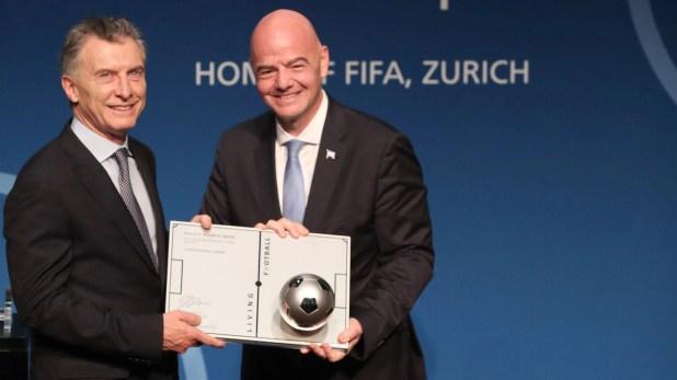 Mauricio Macri compartirá la Junta con Gianni Infantino, presidente de la FIFA (Foto: Prensa Presidencia)