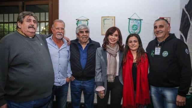 Hugo Moyano y Cristina Kirchner durante un acto del sindicato de mecánicos SMATA