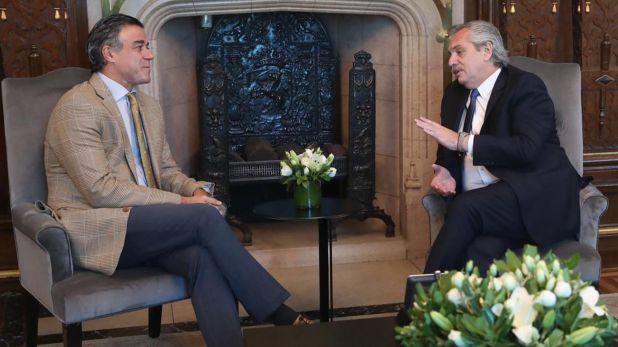 Alberto Fernández y Daniel Rafecas, en el despacho presidencial