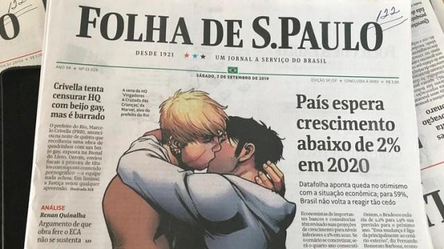 La portada completa del diario Folha de Sao Paulo del sábado 7 de septiembre de 2019