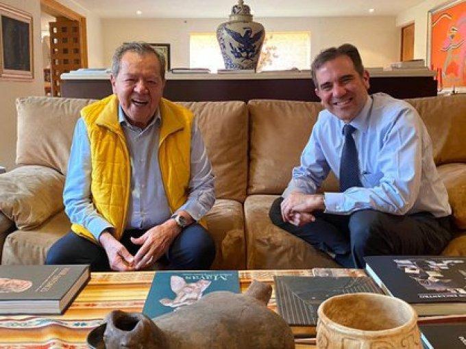 Porfirio Muñoz Ledo se reunión con Lorenzo Córdova (Foto: Twitter / @PMunozLedo)