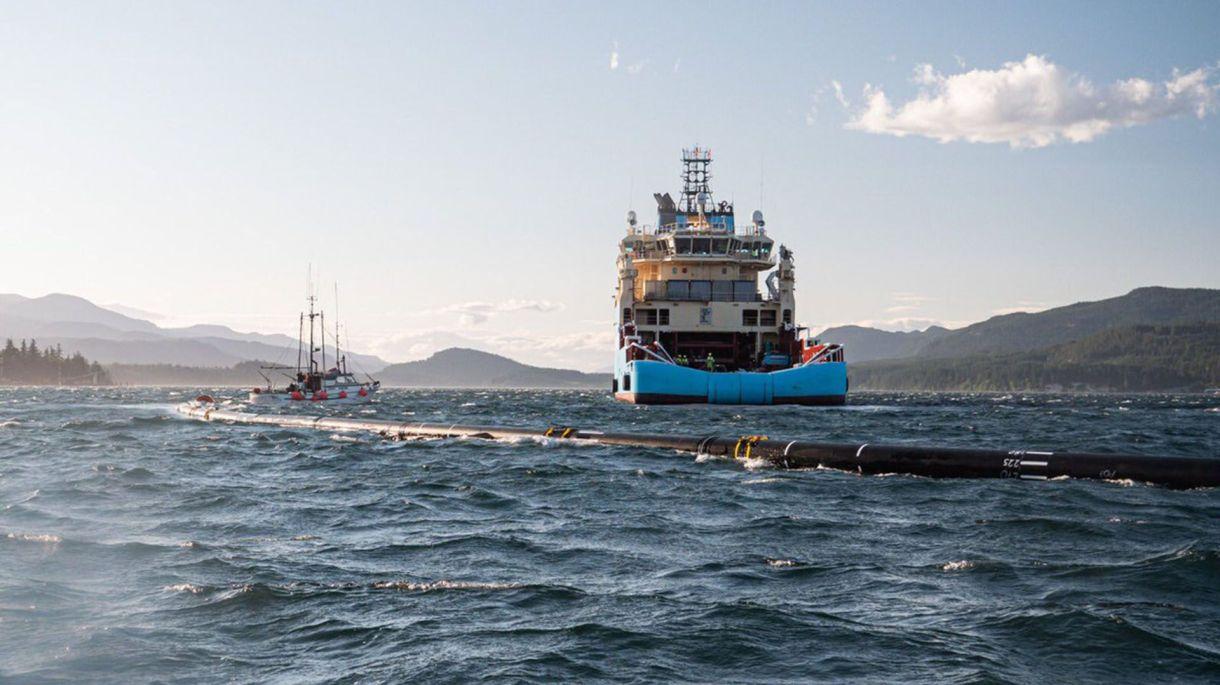 La embarcación de The Ocean Cleanup (Twitter: @TheOceanCleanup)