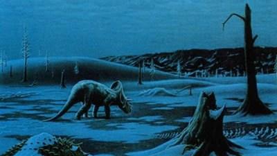 La luz solar desapareció y la fotosíntesis no se pudo hacer, por lo que los animales herbívoros murieron