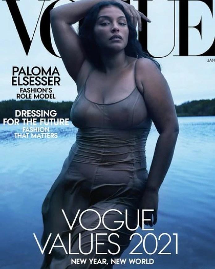 La última tapa de la revista Vogue, con Paloma Elsesser al frente.