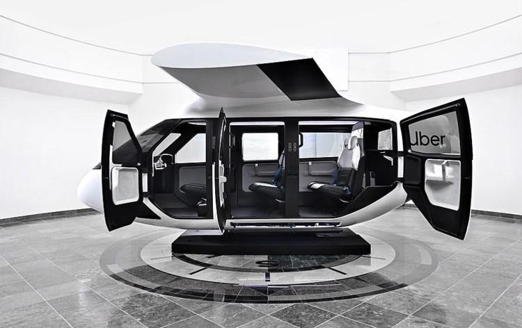 """La compañía presentó las imágenes de la versión definitiva de la nave que impulsará su servicio """"Uber Air"""" (Foto: Uber)"""