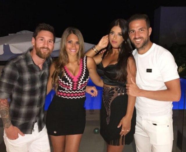 Messi y Antonela suelen reunirse con Fábregas y su mujer cuando están en la misma ciudad