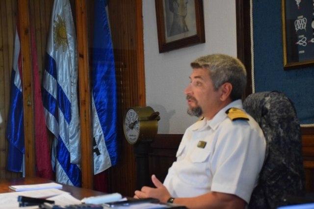 EL Capitán Lavandera tiene responsabilidad sobre más de 60 kmts de frente marítimo en el Departamento Maldonado