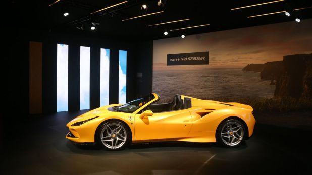 La Ferrari F8 Spider, que tiene el motor V8 más potente de la marca (Crédito: Prensa Ferrari)