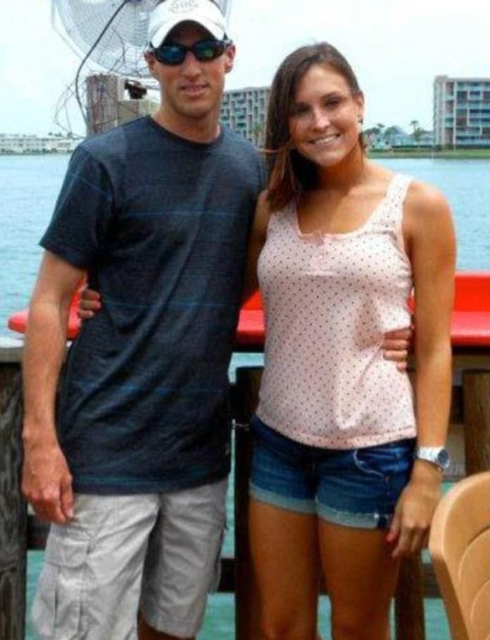 Brandon Ferri, su ex marido, y Stephanie Peterson. Se casaron felices en diciembre de 2015. Comenzaron su divorcio el 12 de febrero cuando el escándalo comenzaba a conocerse