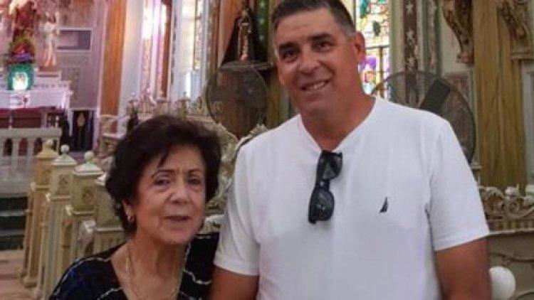 El capitán de La Sotta Quiroga junto a su mamá