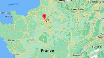 El hecho tuvo lugar aproximadamente 25 kilómetros al norte de París