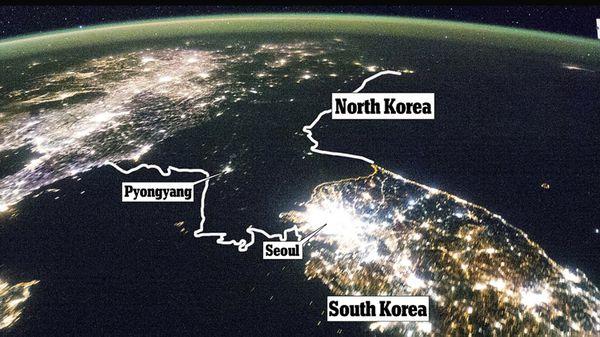 Foto satelital tomada desdeel International Space Station en 2012