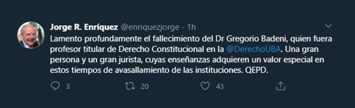 tuits Gregorio Badeni