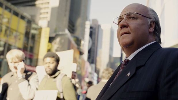 "Russell Crowe como Roger Ailes en ""The Loudest Voice"""
