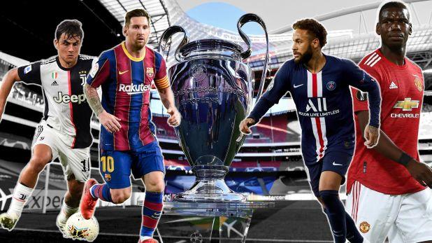 Dybala, Messi, Neymar y Pogba 1920 champions league