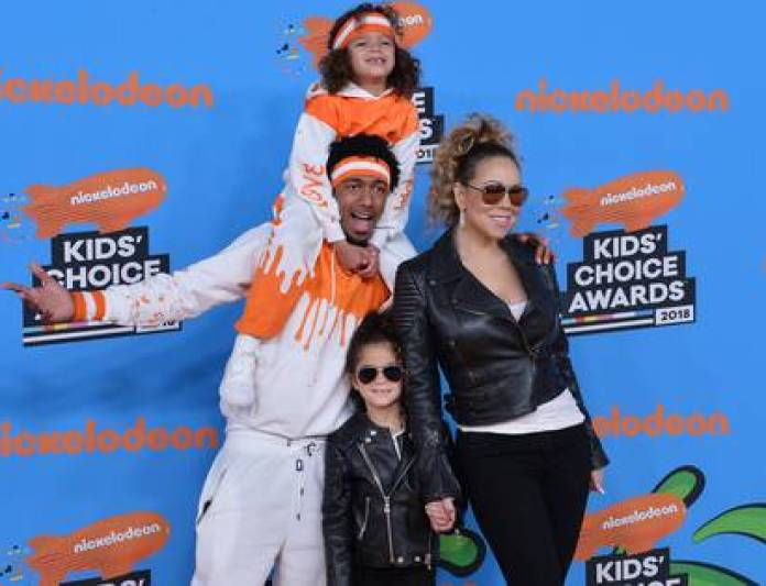 Mariah Carey with her ex Nick Cannon and their children (The Grosby Group)
