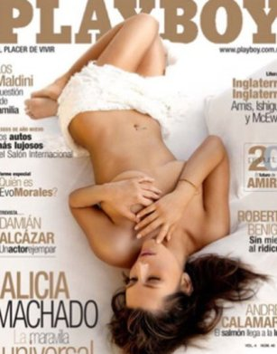 La famosa venezolana adelantó que ya está en pláticas con la revista del conejito (Foto: Instagram de Alicia Machado)