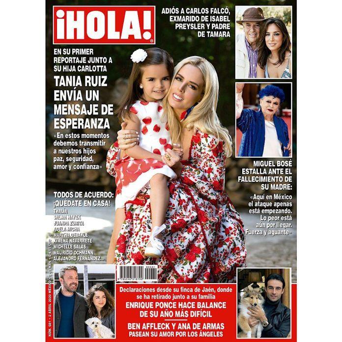 Tania Ruiz posó en familia sin EPN (Foto: Instagram @hola.mx)