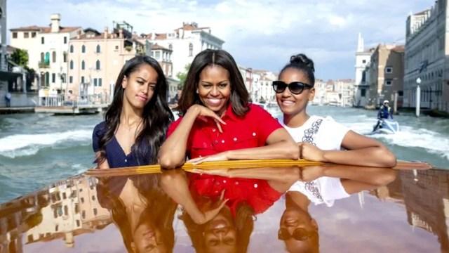 Michelle con sus hijas Sasha y Malia. (Foto: Archivo)