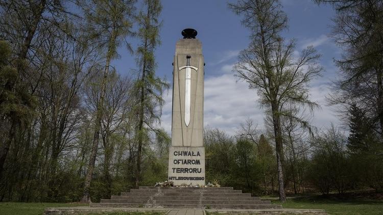 Monumento para conmemorar a las victimas judías de Tarnow que fueron fusiladas por los nazis.