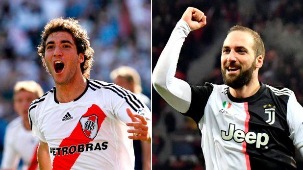 Gonzalo Higuaín surgió de las inferiores de River y hoy brilla en la Juventus