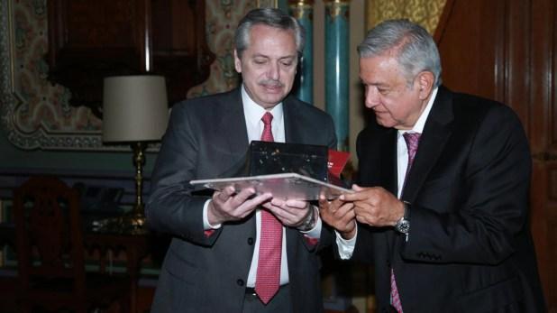 Alberto Fernández junto a Andrés Manuel López Obrador