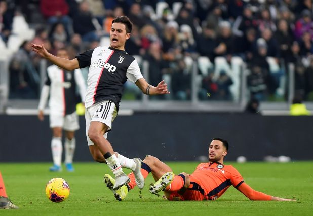 Soccer Football - Serie A - Juventus v Udinese - Allianz Stadium, Turin, Italy - December 15, 2019  Juventus' Paulo Dybala in action          REUTERS/Massimo Pinca