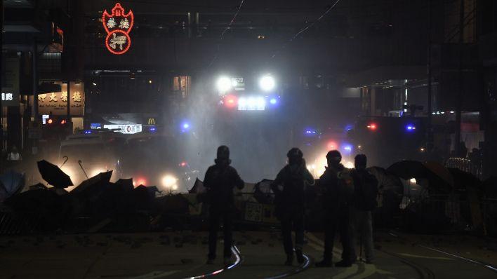 Los incidentes se dieron en el marco de la marcha del 1 de enero (Philip FONG / AFP)