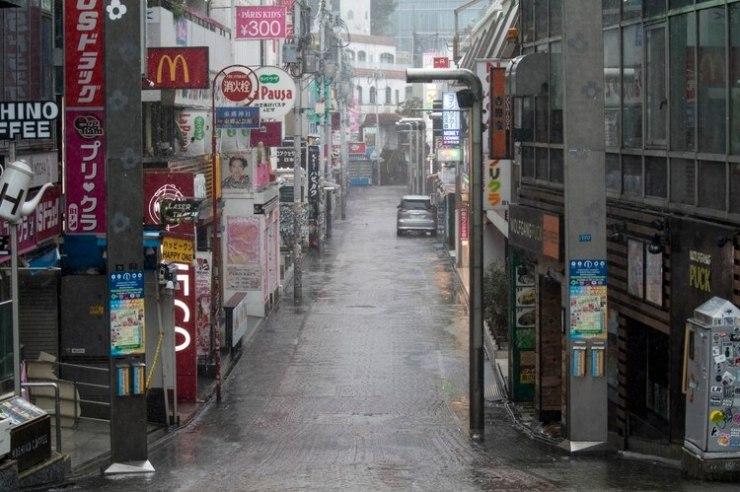 En un inusual movimiento, la Agencia Meteorológica de Japón (JMA) activó el nivel de alerta máximo 5 (Photo by Odd ANDERSEN / AFP)