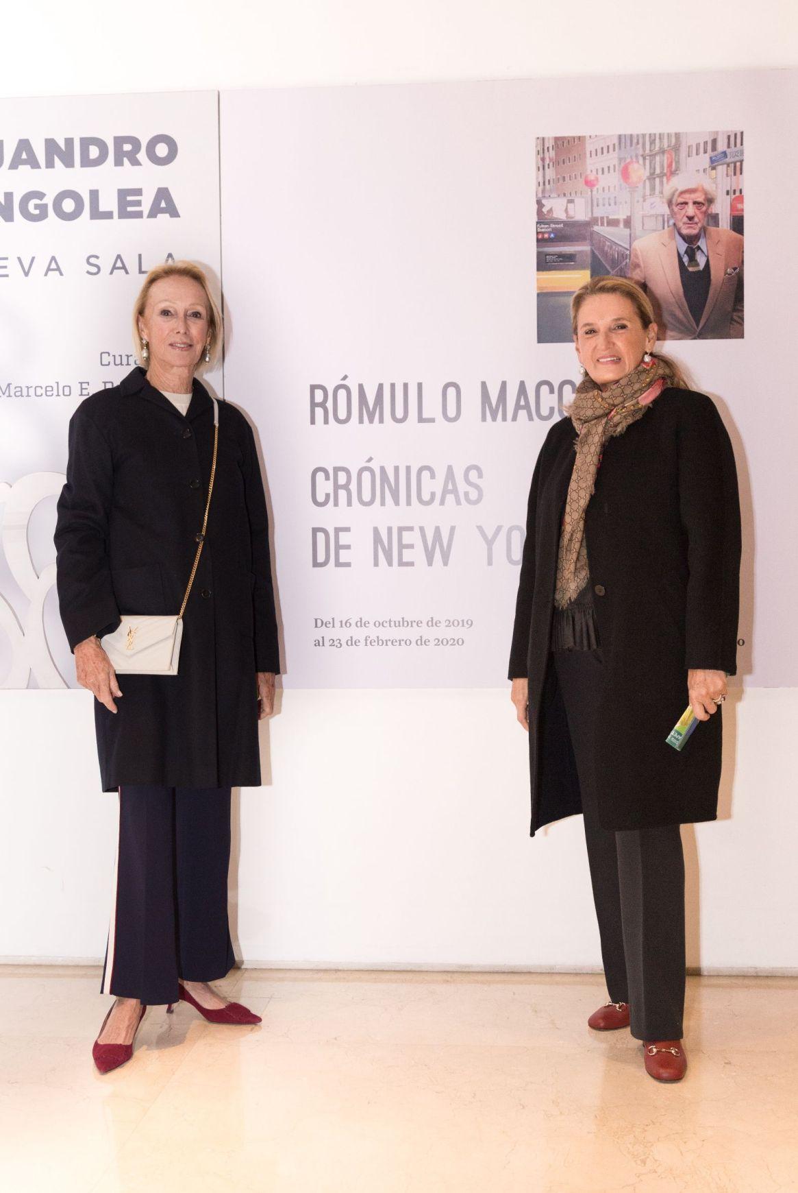 """Rosie Smith y Bitza Imbellone en la exposición producida por """"Colección Amalita"""""""