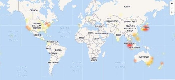Las zonas en las que Gmail tuvo problemas