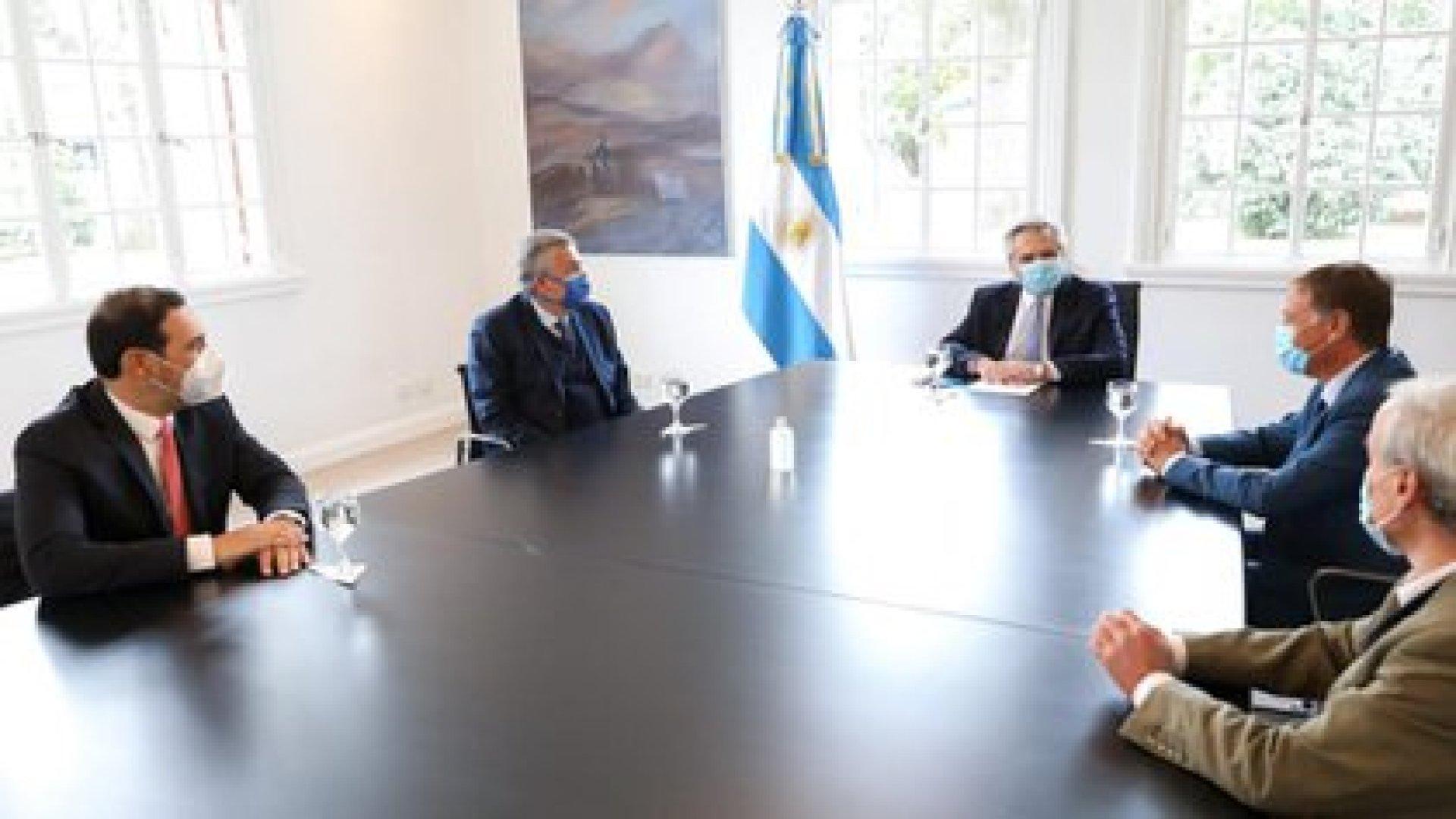 Alberto Fernández y los gobernadores de la UCR