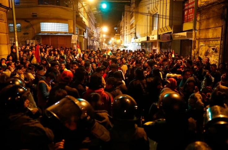 Protestas contra el gobierno de Evo Morales en La Paz el pasado 22 de octubre. (Reuters)