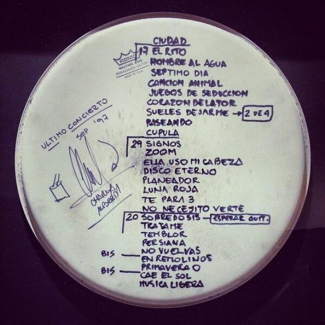 """El parche del último concierto de 1997, el """"machete"""" que sirvió para recordar qué temas habían hecho en la despedida"""