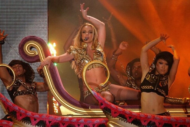 Britney Spears en Moscú, Rusia, en 2011. (AP Photo)