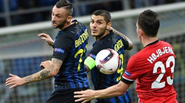 Mauro Icardi junto a Marcelo Brozovic cuando compartían plantel en Inter