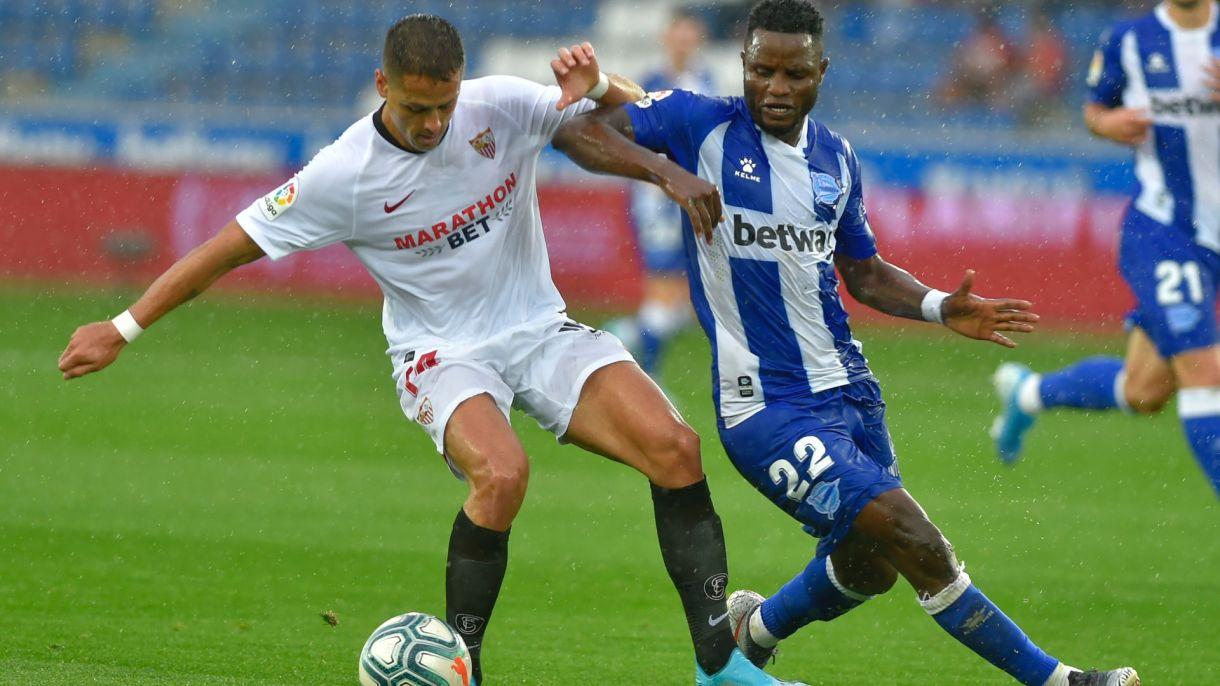 Hernández jugó 20 minutos en el triunfo de los andaluces (Foto: AFP)