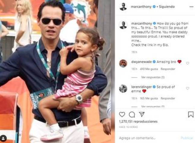 This new incursion of Emme in the deed was held by their parents (Photo: Instagram Jennifer Lopez)