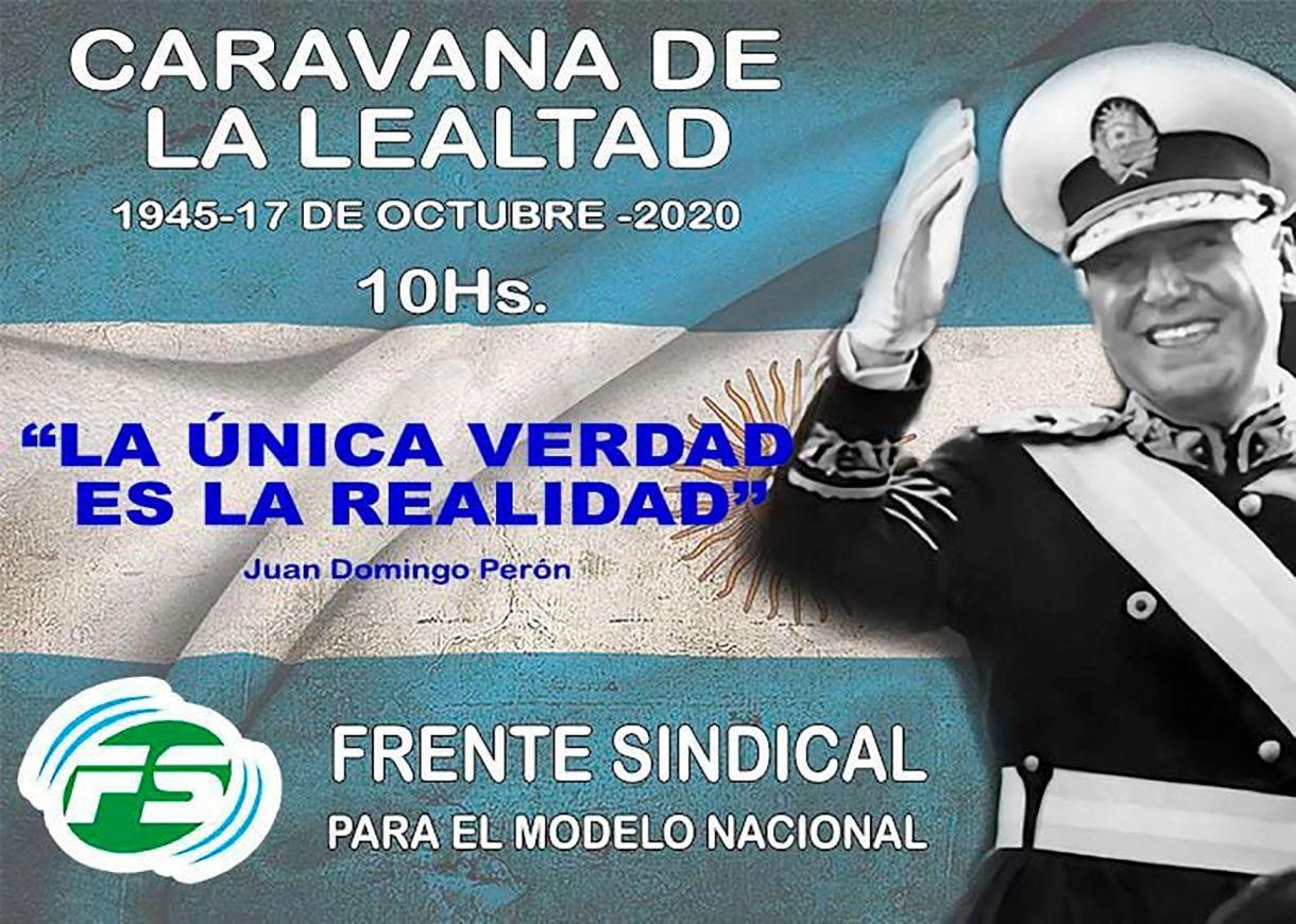 CARAVANA 17 octubre plaza de mayo