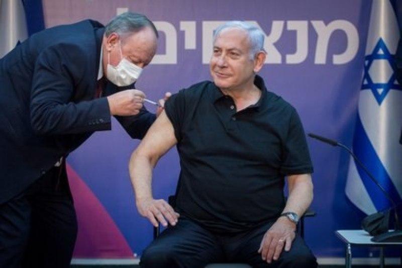 El primer ministro de Israel, Benjamin Netanyhau, ya recibió la segunda dosis de la vacuna contra el COVID-19
