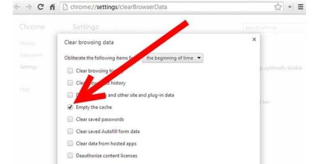 hapus cache sebelum uji kecepatan internet