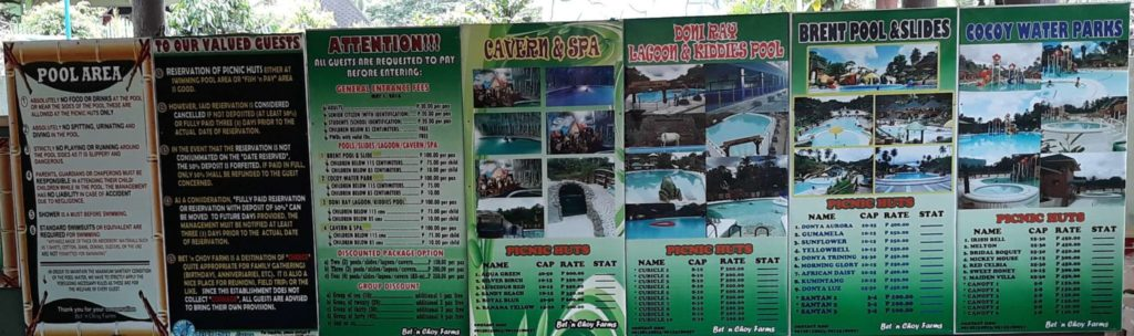 Bet n Choy Farms Water Park And Resort In Catigbian Bohol Price Lists