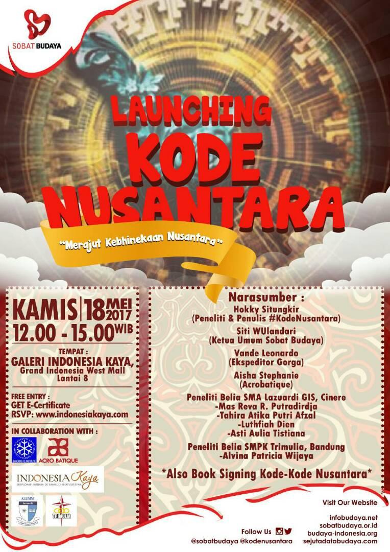 Launching Kodenusantara Merajut Kebhinekaan Nusantara Infobudaya Net