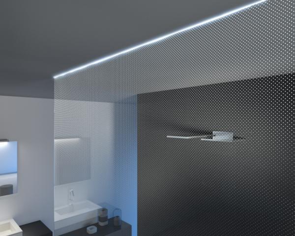 Punton Cristalli Schermo doccia effetto luce