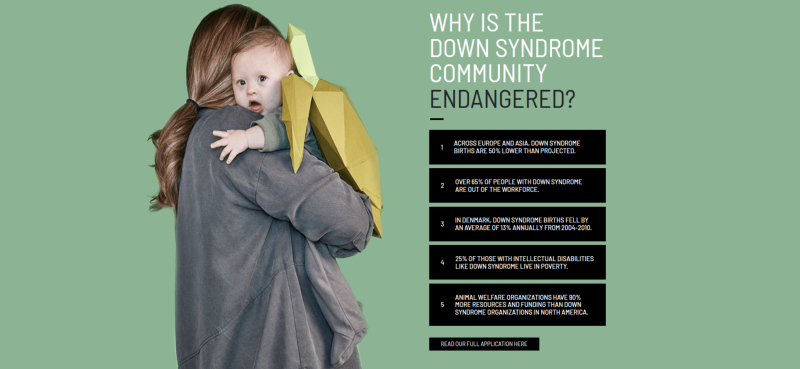 Piden que se declare en peligro de extinción a las personas con Síndrome de Down
