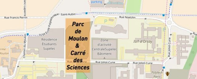 Carte - Parc de Moulon et Carré des Sciences